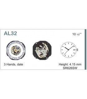Máquinas ou movimentos para relógio, HATTORI AL32