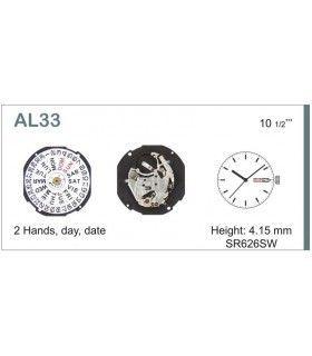 Máquinas ou movimentos para relógio, HATTORI AL33