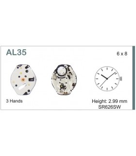 Movement for watches, HATTORI AL35