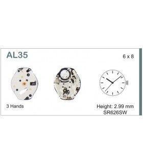 Movement for watches, HATTORI AL35