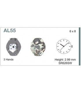 Máquinas ou movimentos para relógio, HATTORI AL55