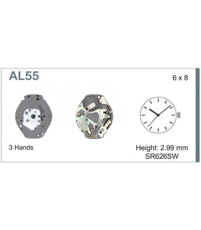 Meccanismo Orologio Ref SEIKO AL55