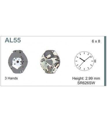 Maquinaria de reloj Ref SEIKO AL55