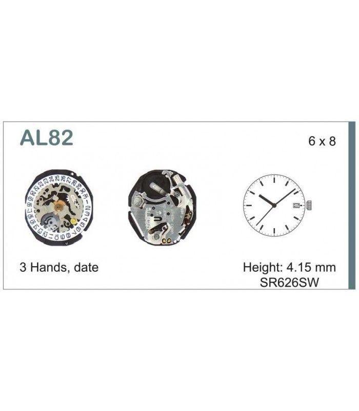 Máquinas ou movimentos para relógio, HATTORI AL82