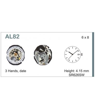 Maquinaria de reloj Ref SEIKO AL82