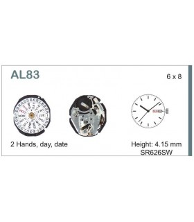 Movement for watches, HATTORI AL83