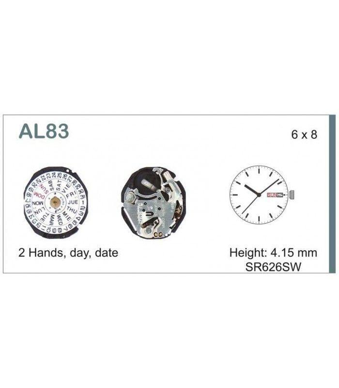 Máquinas ou movimentos para relógio, HATTORI AL83