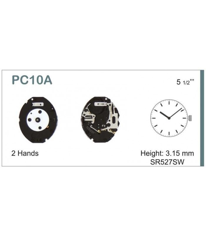 Máquinas ou movimentos para relógio, HATTORI PC10