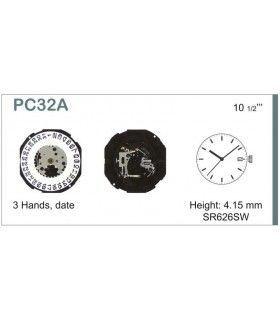 Máquina o movimiento para reloj HATTORI PC32