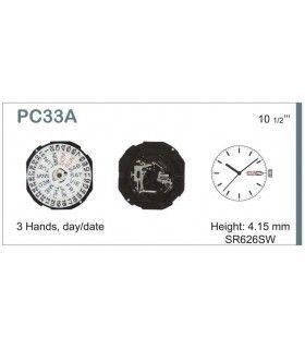Máquina o movimiento para reloj HATTORI PC33