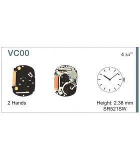 Máquinas ou movimentos para relógio, HATTORI VC00