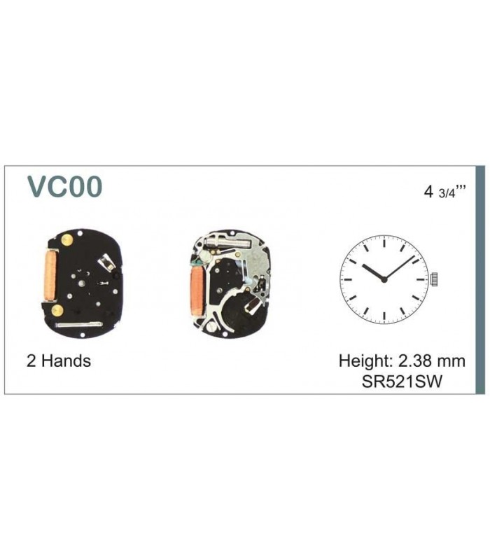 Movement for watches, HATTORI VC00