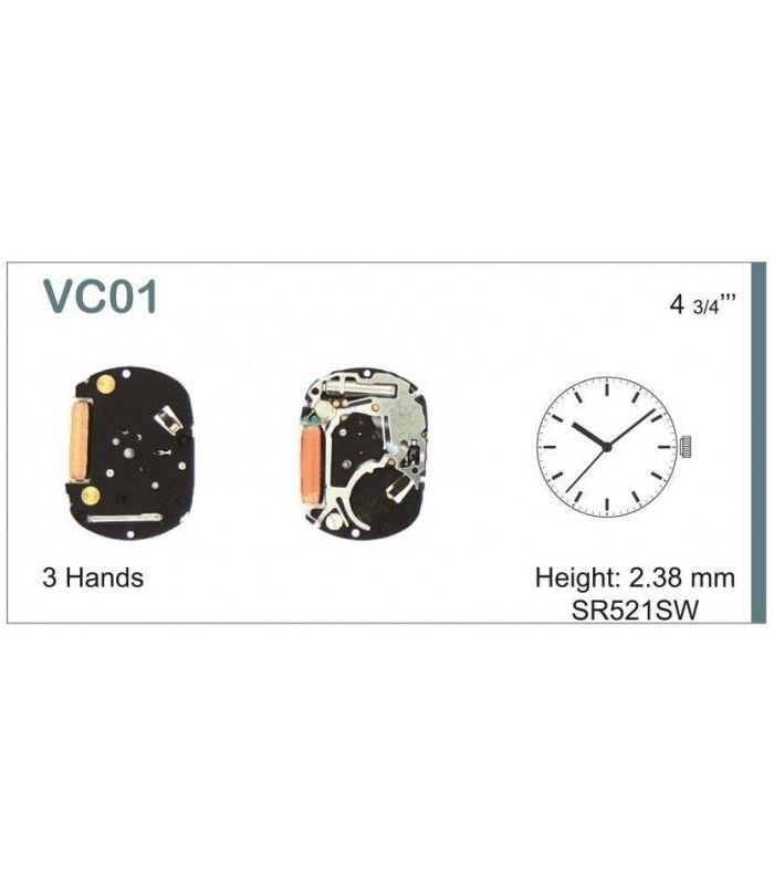 Máquinas ou movimentos para relógio, HATTORI VC01