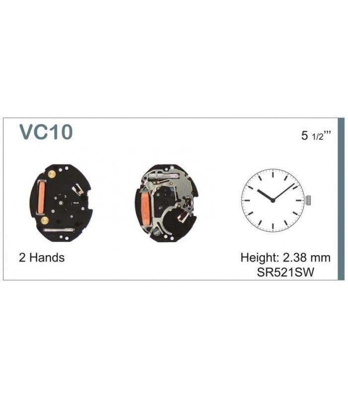 Máquinas ou movimentos para relógio, HATTORI VC10