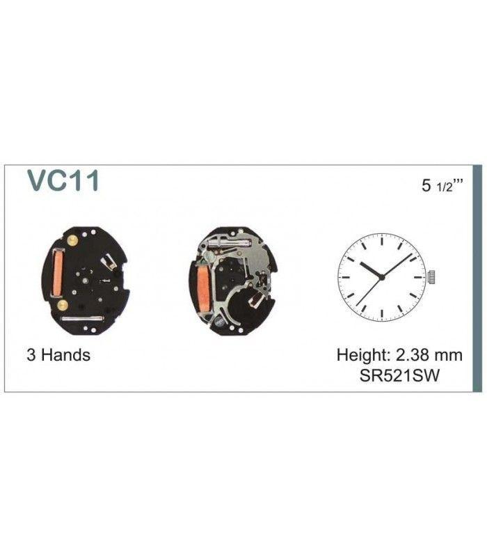 Máquinas ou movimentos para relógio, HATTORI VC11