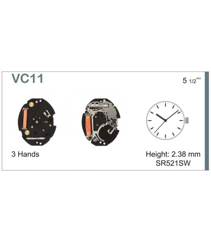 Máquina o movimiento para reloj HATTORI VC11