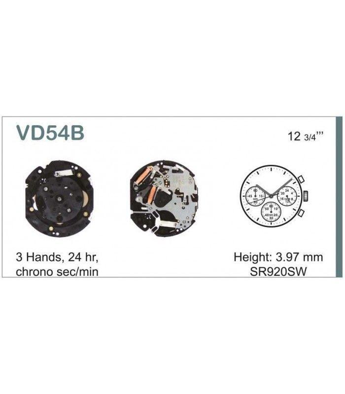 Máquinas ou movimentos para relógio, HATTORI VD54