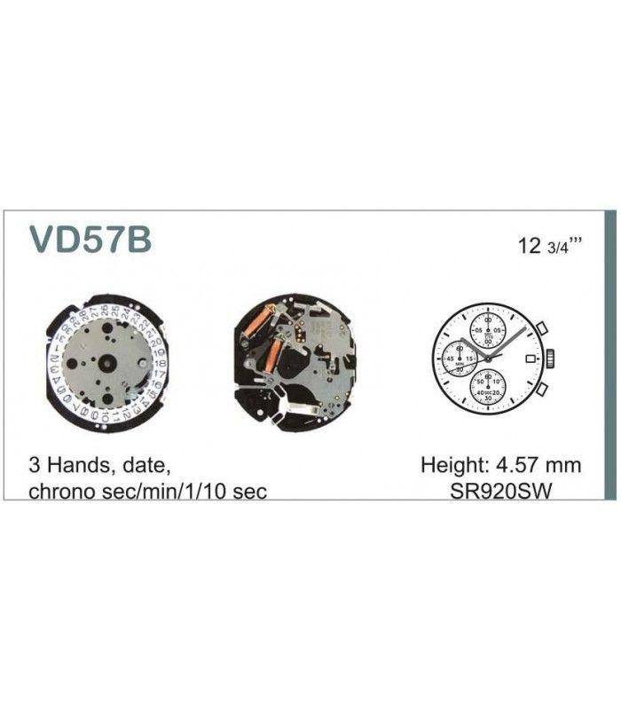 Máquinas ou movimentos para relógio, HATTORI VD57