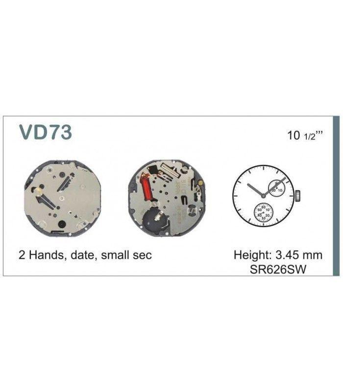 Máquinas ou movimentos para relógio, HATTORI VD73