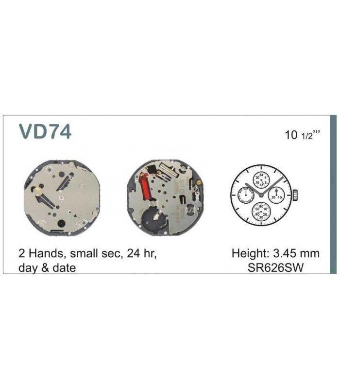 Máquinas ou movimentos para relógio, HATTORI VD74