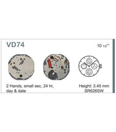 Maquinaria de reloj Ref SEIKO VD74