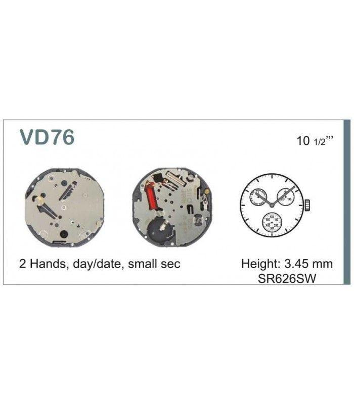 Máquinas ou movimentos para relógio, HATTORI VD76