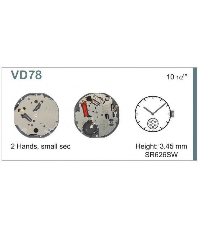 Máquinas ou movimentos para relógio, HATTORI VD78