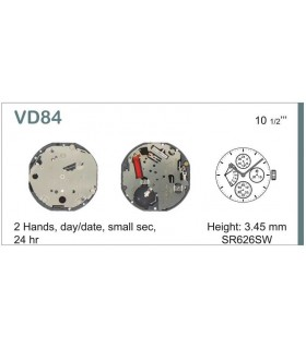 Máquinas ou movimentos para relógio, HATTORI VD84