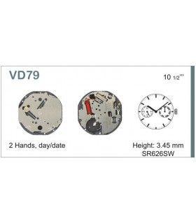 Máquinas ou movimentos para relógio, HATTORI VD79