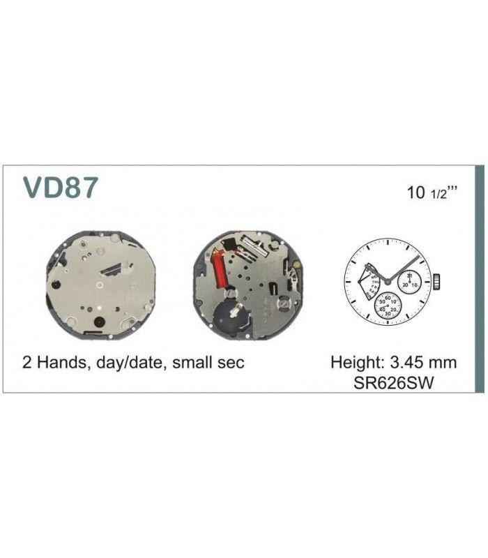 Máquinas ou movimentos para relógio, HATTORI VD87