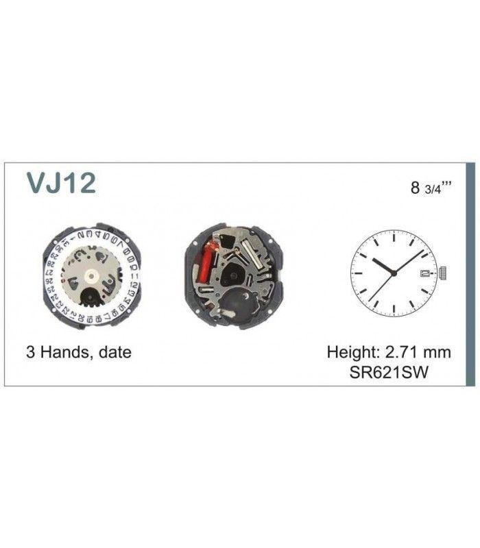 Máquina o movimiento para reloj HATTORI VJ12