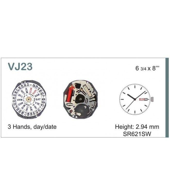 Máquinas ou movimentos para relógio, HATTORI VJ23