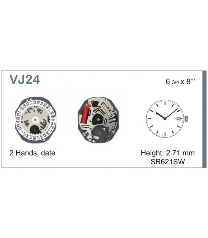 Máquinas ou movimentos para relógio, HATTORI VJ24