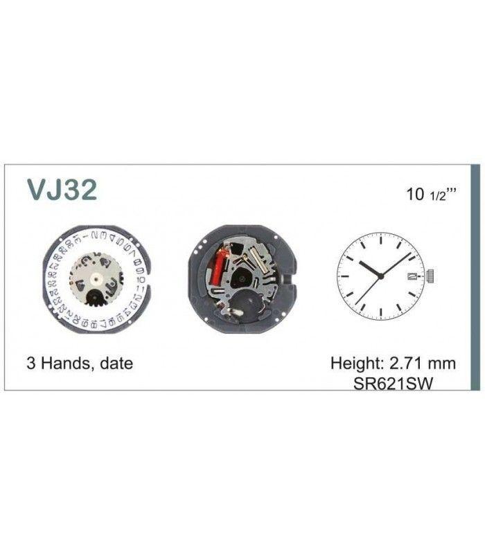Máquinas ou movimentos para relógio, HATTORI VJ32