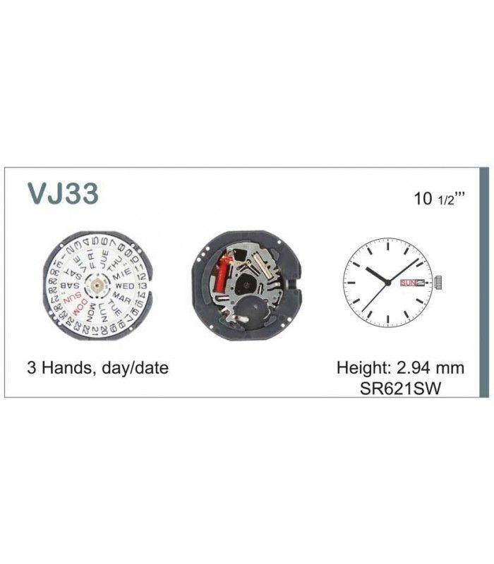 Máquinas ou movimentos para relógio, HATTORI VJ33