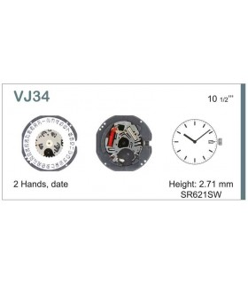 Máquinas ou movimentos para relógio, HATTORI VJ34