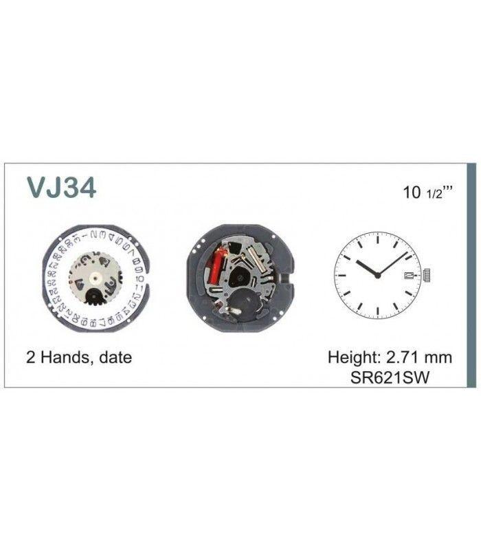 Uhrwerke, HATTORI VJ34