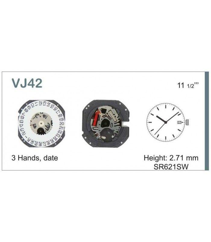 Máquinas ou movimentos para relógio, HATTORI VJ42