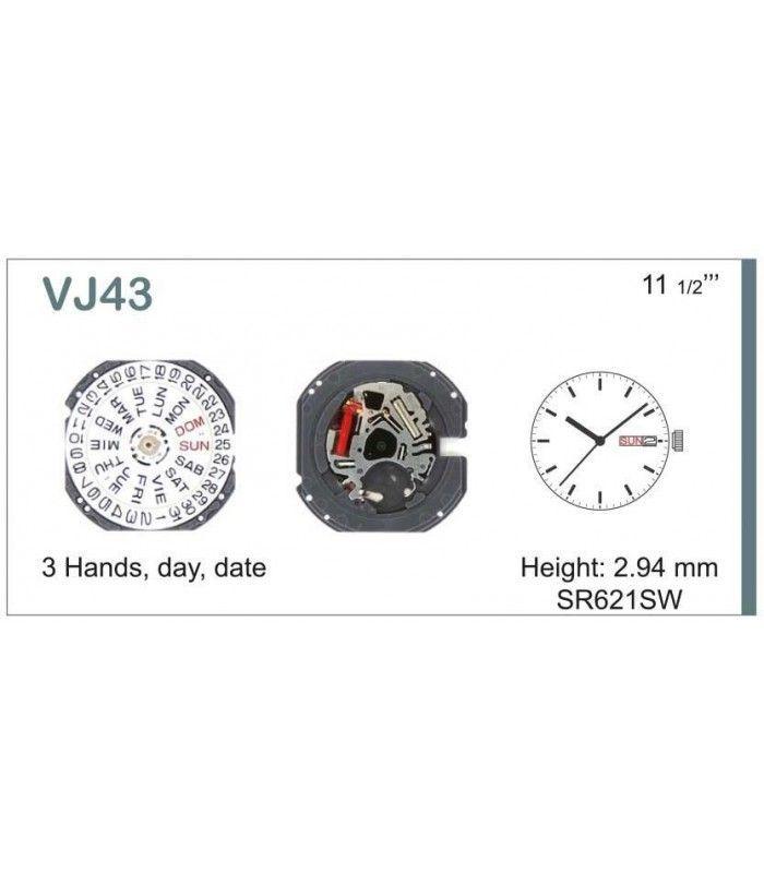 Máquinas ou movimentos para relógio, HATTORI VJ43