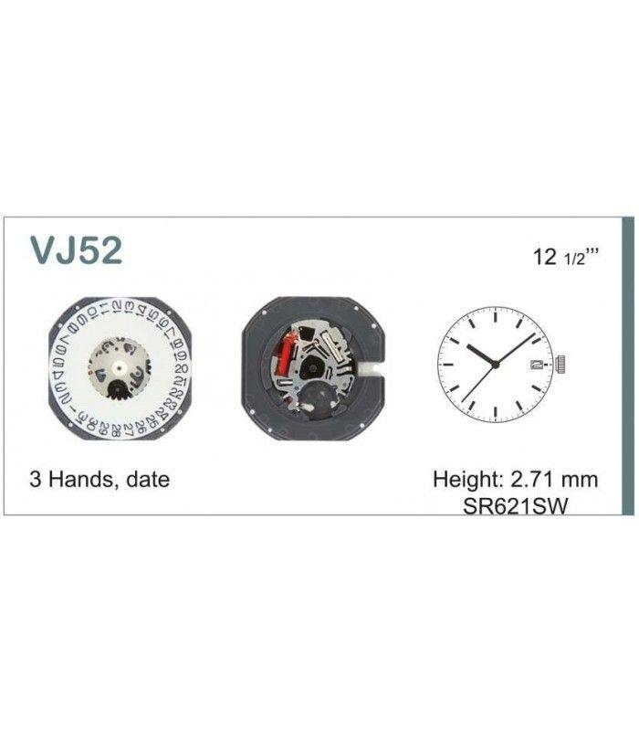 Máquinas ou movimentos para relógio, HATTORI VJ52