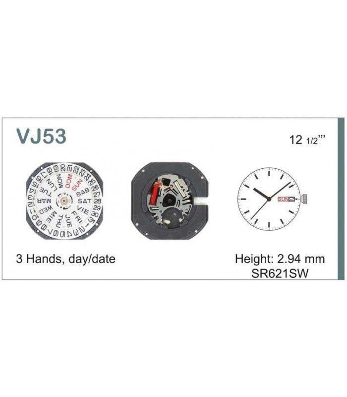 vements de montre, HATTORI VJ53