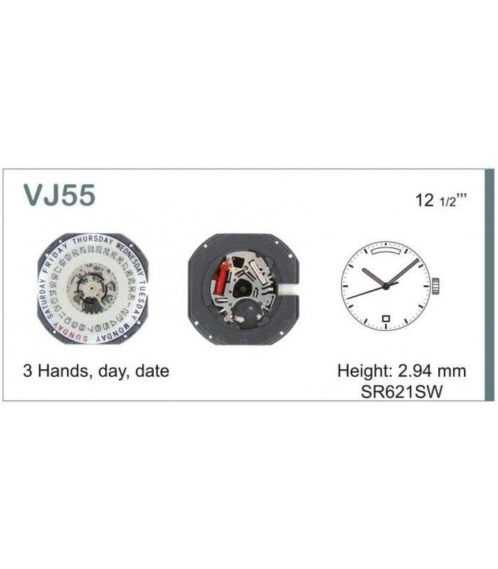 Máquinas ou movimentos para relógio, HATTORI VJ55