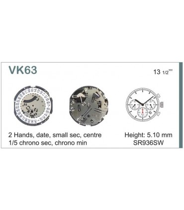 Maquinaria de reloj Ref SEIKO VK63