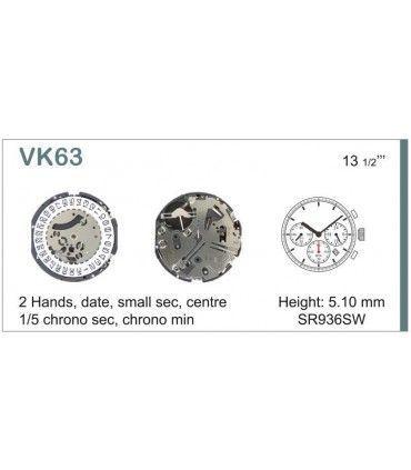 Meccanismo Orologio Ref SEIKO VK63