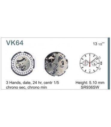 Maquina de relogio Ref SEIKO VK64