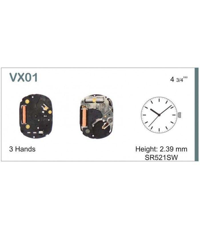 Movement for watches, HATTORI VX01