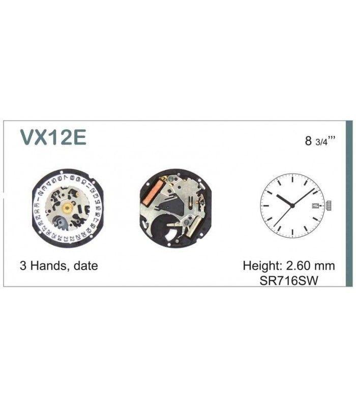 Movement for watches, HATTORI VX12