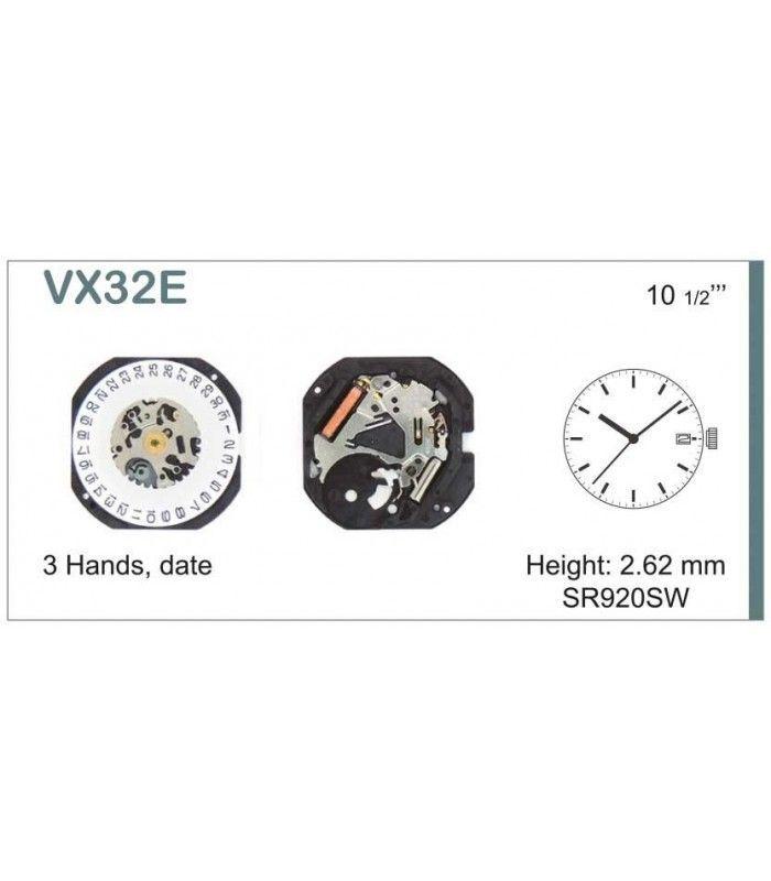 Máquinas ou movimentos para relógio, HATTORI VX32