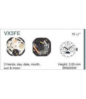 Máquinas ou movimentos para relógio, HATTORI VX3F