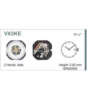 Movement for watches, HATTORI VX3K